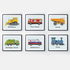 Transportation wall prints