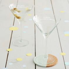 Personalised Recipe Martini Glass