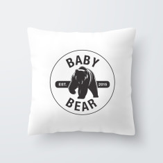 Baby Bear Personalised Throw Pillow