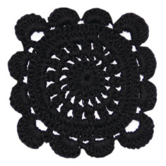 Crochet Coaster Black (Set of 4)