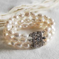 Vintage Style Triple Strand Bracelet
