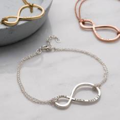 Personalised Mummy & Baby Infinity Bracelet