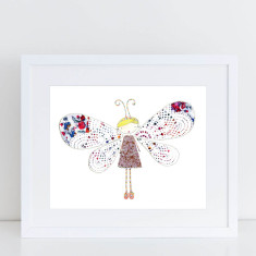 Butterfly Girl - Limited Edition Fine Art Print