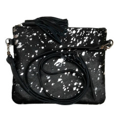 Black hide and silver foil bag