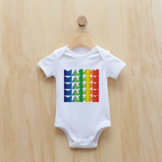 Personalised rainbow gradient boy bodysuit