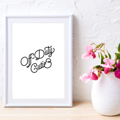 Off-duty cutie art print (various sizes)