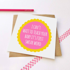 Teaching the baby greeting card