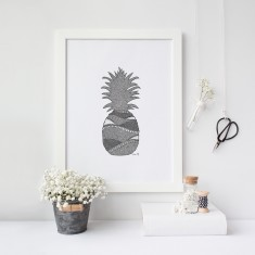 Pineapple drawing print