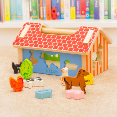 Personalised Farm Wooden Shape Sorter Toy