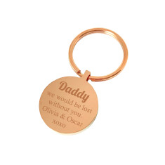 Lost without you Daddy personalised keyring