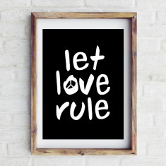 Let love rule print
