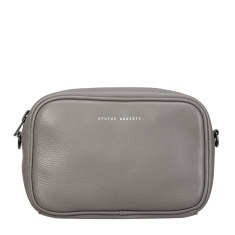 Plunder leather bag in light grey