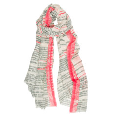 Coastline patterned scarf in coral or mint