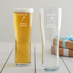 Personalised Darts Pint Glass