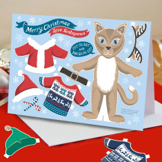 Dress Up Santa paws cat Christmas cards