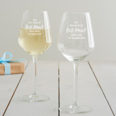 Personalised 'Will You Be My Best Man?' Wine Glass