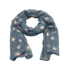 Dandelion foil print scarf