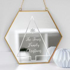 Personalised Family Christmas Tree Mirror
