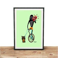 Unicycle cruising Giclee print