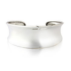 Silver Tapered Cuff Bangle