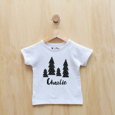 Personalised Christmas Monochrome Trees t-shirt
