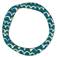 Blue wave reversible bangle