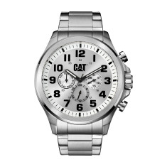 CAT Operator series Watch in Stainless Steel with White Dual-Time face