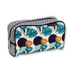 Toiletry Bag with jungle flower print