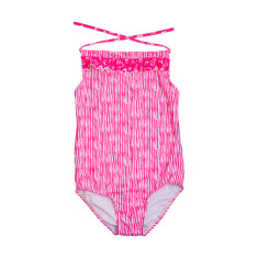 Girls' one-piece swimmers in Love Stripe Desire