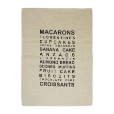 Baking list tea towel