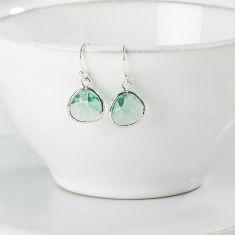 Azure Silver Raindrop Earrings
