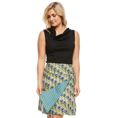 Chameleon reversible skirt Mystic green & Tic tac blue