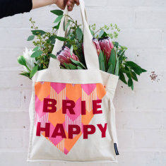 Brie Happy Organic Eco Shopping bag with internal pockets