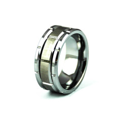 Men's alcander tungsten carbide ring