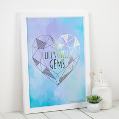 Personalised Life's Little Gems Metallic Print