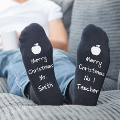 Personalised Black Teachers Apple socks