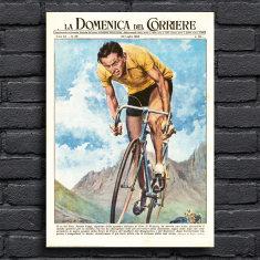 Fausto Coppi Italian Cyclist Print