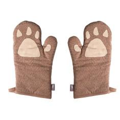 Big bear claw oven mitt pair