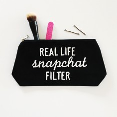 Snapchat filter make up bag
