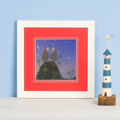 Hedgehugs Star Gazing Print