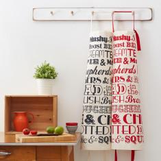 English dinner apron