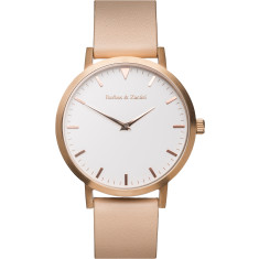 Barbas & Zacari Rose Leather Watch - Unisex