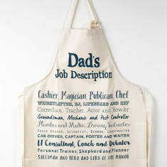 Dad's Job Description Poem Apron