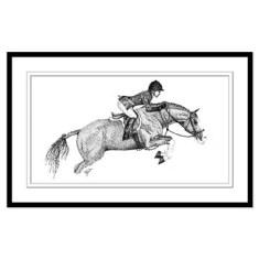 Hunter Pony Art Print (unframed)