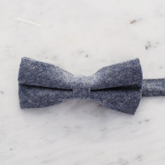 Charles bow tie in oxford grey