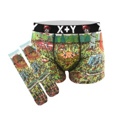 Men's Where's Wally fairground trunks