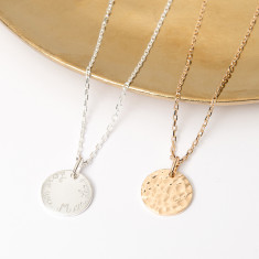 Personalised Small Hammered Necklace