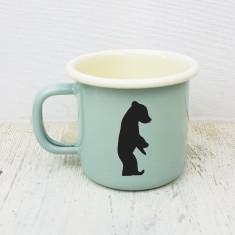 Baby Bear Engraved Enamel Mug