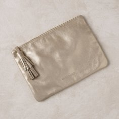Masai mara clutch in light gold