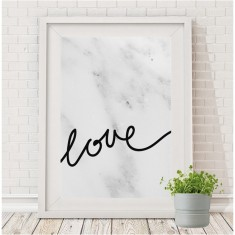 Love print (white or marble)